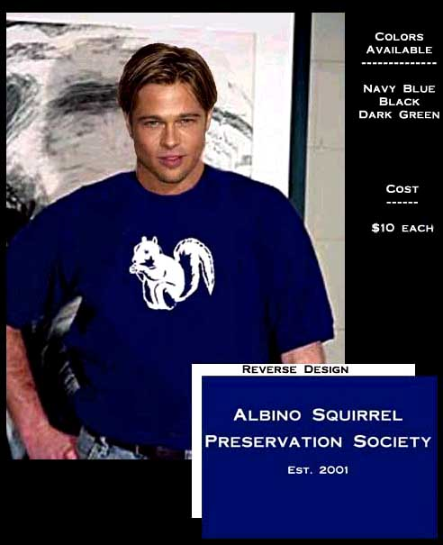 Albino squirrel preservation society university of texas for Juilliard college t shirts